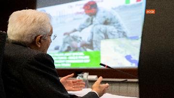 5 - Mattarella al Coi per il saluto ai militari italiani in missione all'estero