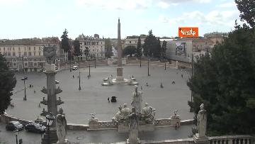 7 - Pasquetta in zona rossa a Roma, controlli a tappeto e piazze semivuote in centro