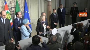 9 - Il gruppo Misto del Senato al Quirinale, Grasso, Bonino, De Petris e Nencini in conferenza stampa