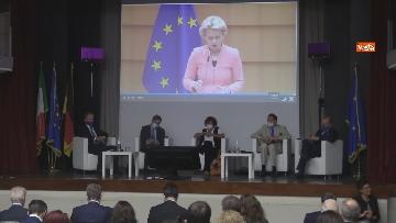 7 - Stato dell'Unione, Amendola e capo rappresentanza commissione UE in Italia Parenti seguono discorso von der Leyen, le foto