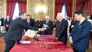 3 - Il giuramento del Ministro dello Sport Vincenzo Spadafora