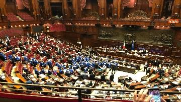 5 - Bagarre in aula alla Camera, Forza Italia protesta con i gilet blu