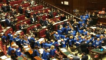 2 - Bagarre in aula alla Camera, Forza Italia protesta con i gilet blu
