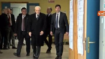 1 - Mattarella a Palermo, il presidente della Repubblica vota nella sua città