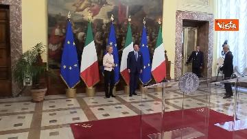 9 - Conte incontra von der Leyen a Palazzo Chigi. Le immagini