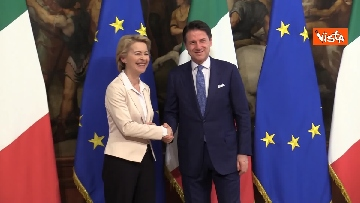 8 - Conte incontra von der Leyen a Palazzo Chigi. Le immagini