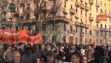 9 - Corteo dei centri sociali a Milano contro il decreto Salvini