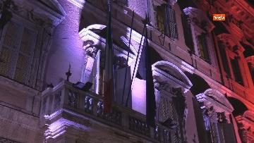 1 - Palazzo Madama illuminato con il tricolore