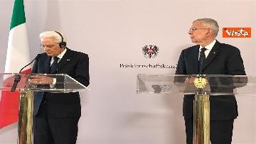 1 - La conferenza a Vienna con Mattarella ed il presidente austriaco Van der Bellen