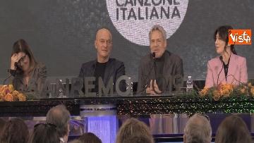 5 - Bisio, Baglioni e Raffaele in conferenza dopo la prima serata di Sanremo