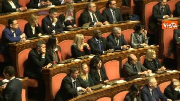 9 - Le prime votazioni per il presidente del Senato con Renzi, Salvini, Iwobi, Segre, Casini, Bossi, Bernini, Bonino, Galliani, Bongiorno, Martelli