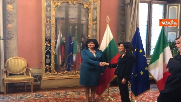 1 - Casellati riceve la presidente del parlamento bulgaro Tsveta Karayancheva