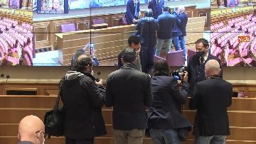 1 - Coronavirus, la conferenza stampa della Lega al Senato con Salvini e Siri