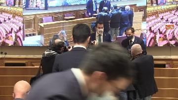 2 - Coronavirus, la conferenza stampa della Lega al Senato con Salvini e Siri