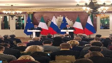 1 - Conte e Putin in conferenza stampa congiunta al Cremlino al termine dell'incontro istituzionale