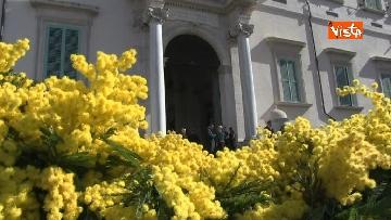 6 - 8 Marzo, il Quirinale si tinge di giallo e si riempie di mimose per la festa delle donne