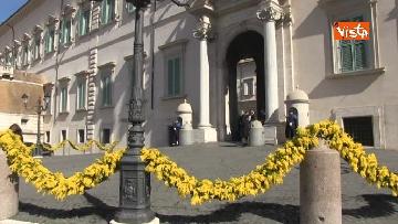 2 - 8 Marzo, il Quirinale si tinge di giallo e si riempie di mimose per la festa delle donne