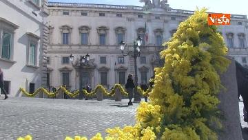 5 - 8 Marzo, il Quirinale si tinge di giallo e si riempie di mimose per la festa delle donne