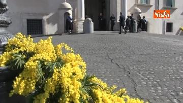 4 - 8 Marzo, il Quirinale si tinge di giallo e si riempie di mimose per la festa delle donne