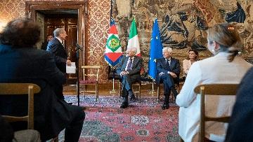 3 - Mattarella incontra una Delegazione della Lega Italiana per la lotta contro i tumori