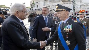 1 - Mattarella all'Altare della Patria per la festa delle forze armate