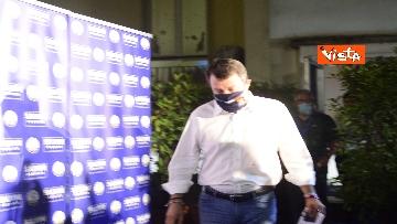 6 - Regionali, Salvini commenta i risultati nella sede della Lega in via Bellerio, le immagini