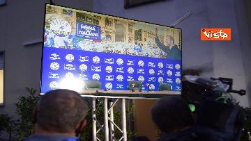 4 - Regionali, Salvini commenta i risultati nella sede della Lega in via Bellerio, le immagini
