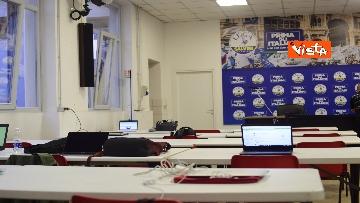 2 - Regionali, Salvini commenta i risultati nella sede della Lega in via Bellerio, le immagini