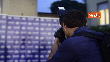 3 - Regionali, Salvini commenta i risultati nella sede della Lega in via Bellerio, le immagini