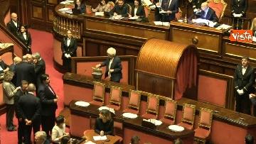 10 - Le prime votazioni per il presidente del Senato con Renzi, Salvini, Iwobi, Segre, Casini, Bossi, Bernini, Bonino, Galliani, Bongiorno, Martelli