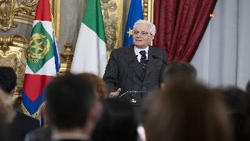 7 - Mattarella consegna gli Attestati d'Onore ai nuovi Alfieri della Repubblica, le immagini
