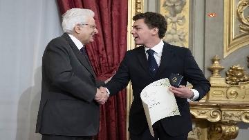 19 - Mattarella consegna gli Attestati d'Onore ai nuovi Alfieri della Repubblica, le immagini