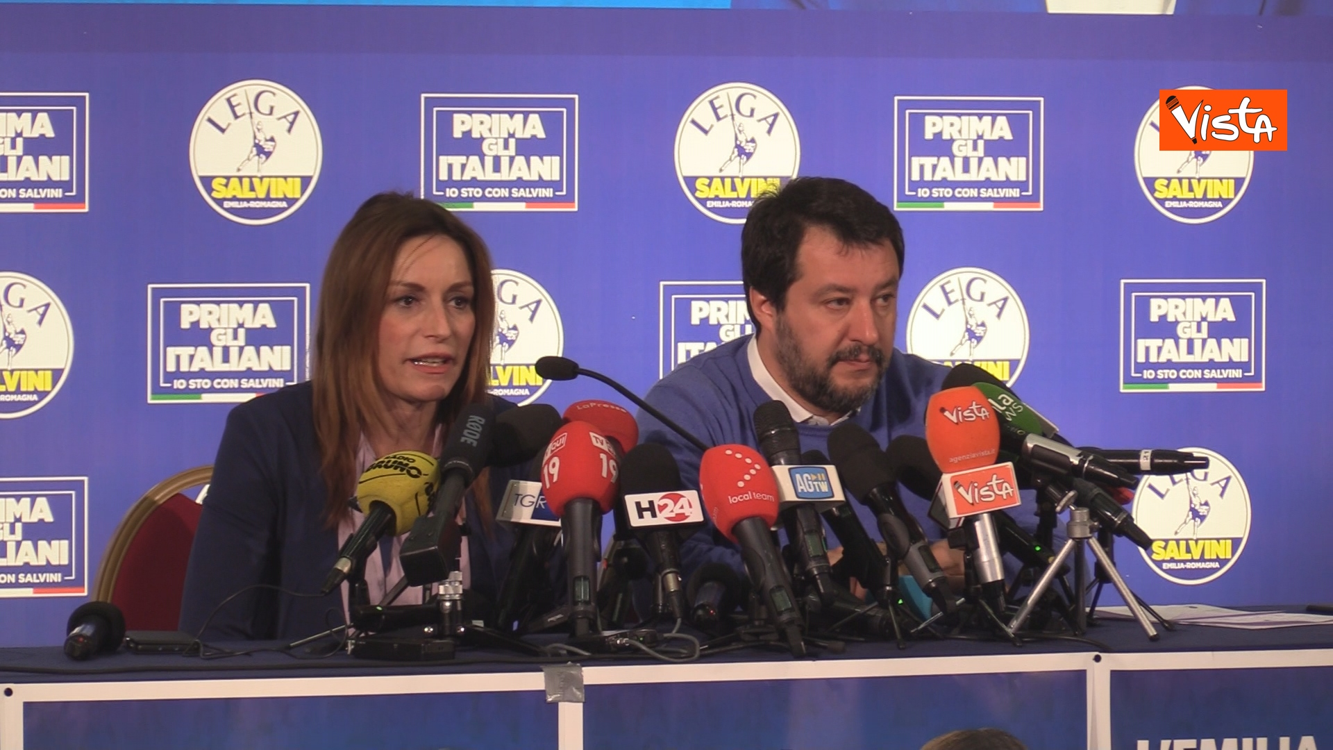 27-01-20 Salvini e Borgonzoni in conferenza stampa sul risultato del voto in Emilia-Romagna, le immagini_03
