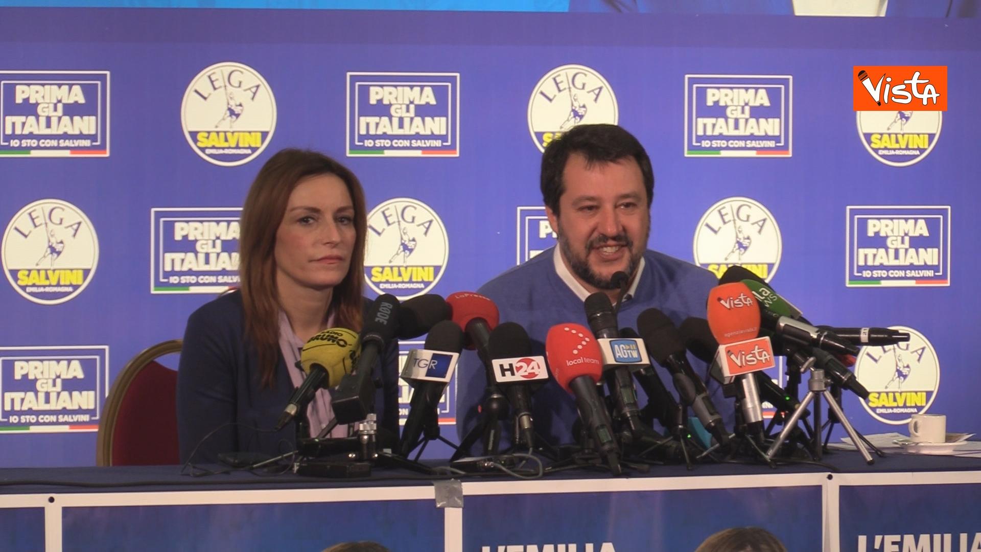 27-01-20 Salvini e Borgonzoni in conferenza stampa sul risultato del voto in Emilia-Romagna, le immagini_08