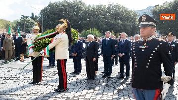 1 - Mattarella depone corona d'alloro a Porta San Paolo per anniversario difesa di Roma 8 settembre