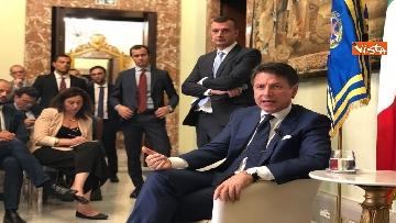 4 - Il presidente del Consiglio, Giuseppe Conte, incontra la stampa nazionale prima della pausa estiva