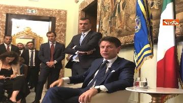 9 - Il presidente del Consiglio, Giuseppe Conte, incontra la stampa nazionale prima della pausa estiva