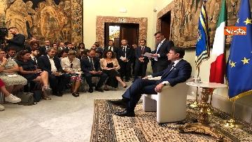 7 - Il presidente del Consiglio, Giuseppe Conte, incontra la stampa nazionale prima della pausa estiva