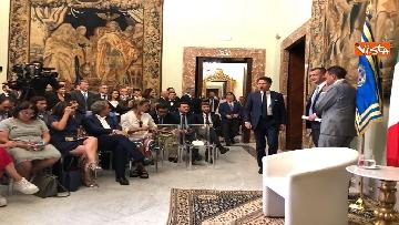 3 - Il presidente del Consiglio, Giuseppe Conte, incontra la stampa nazionale prima della pausa estiva