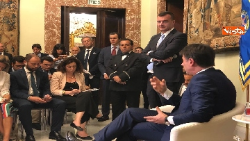 5 - Il presidente del Consiglio, Giuseppe Conte, incontra la stampa nazionale prima della pausa estiva