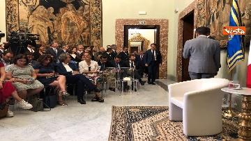 8 - Il presidente del Consiglio, Giuseppe Conte, incontra la stampa nazionale prima della pausa estiva