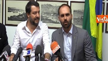 2 - L'incontro a Milano tra Salvini e E. Bolsonaro