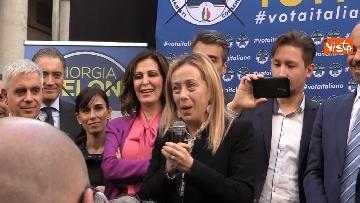 3 - Il comizio di Giorgia Meloni in piazza San Carlo a Milano,