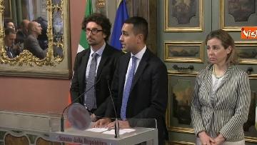 7 - Di Maio, Giulia Grillo e Toninelli al termine delle Consultazioni al Senato