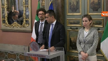 3 - Di Maio, Giulia Grillo e Toninelli al termine delle Consultazioni al Senato