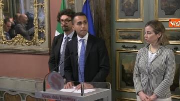 6 - Di Maio, Giulia Grillo e Toninelli al termine delle Consultazioni al Senato