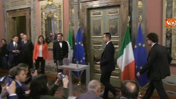 2 - Di Maio, Giulia Grillo e Toninelli al termine delle Consultazioni al Senato