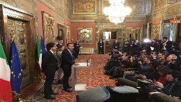 8 - Di Maio, Giulia Grillo e Toninelli al termine delle Consultazioni al Senato
