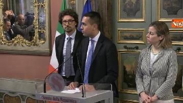 5 - Di Maio, Giulia Grillo e Toninelli al termine delle Consultazioni al Senato