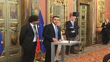 10 - Di Maio, Giulia Grillo e Toninelli al termine delle Consultazioni al Senato